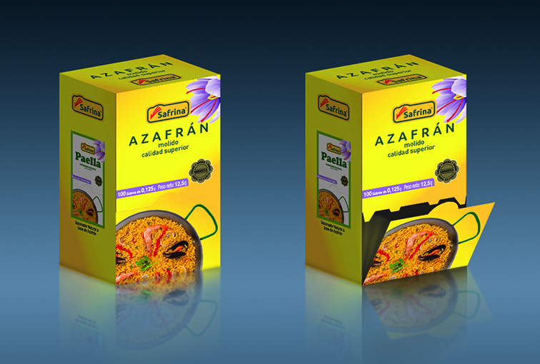 Azafrán/Saffron packaging © Safrina — Enrique Ayllón, 2014