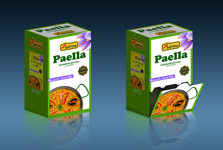 Paella packaging © Safrina — Enrique Ayllón, 2014